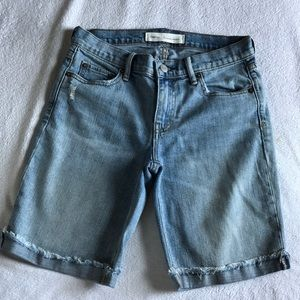 GAP Bermuda light jean distressed shorts